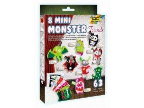 Filcové mini MONSTER postavičky - sada na výrobu 8 kusů postaviček