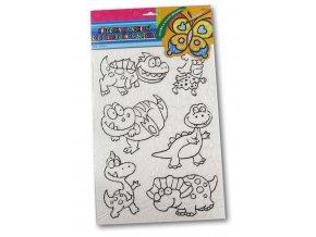 Předlohy pro malování na sklo - dinosauři
