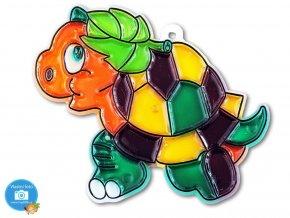 Závěsná šablona pro barvy na sklo - želva