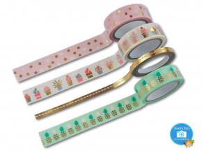 Folia 26418 - Washi tape - motiv ZLATÁ