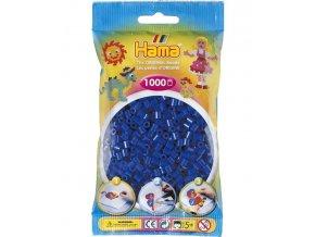 207-08 zažehlovací HAMA korálky tmavě modré
