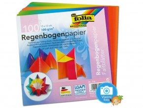 Folia 716 Origami papír duhový 100 g/m2 - 15 x 15 cm