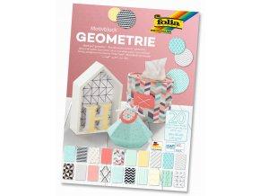 Blok s motivem GEOMETRIE - 270 g/m2, 20 listů, 24 x 34 cm