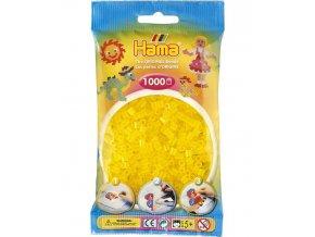 207-14 zažehlovací HAMA korálky průhledné žluté