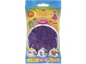207-24 zažehlovací HAMA korálky průhledné fialové