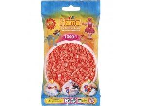 207-43 zažehlovací HAMA korálky pastelově červené