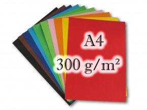 Barevné čtvrtky 300 g/m2, A4, 20 listů
