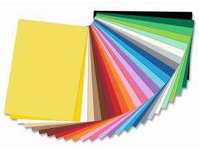 Barevné papíry - 130 g/m2, 25 listů, 25 barev, 25 x 35 cm