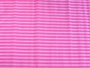 Krepový papír pruhovaný - 9755/61 - růžovo-růžový