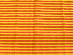 Krepový papír pruhovaný - 9755/66 - žluto-červený