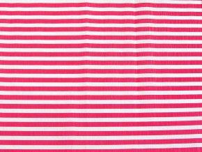 Krepový papír pruhovaný - 9755/65 - bílo-červený