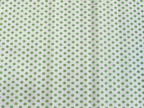 Krepový papír puntíkatý - 9755/57 - bílo-zelený