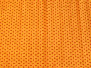 Krepový papír puntíkatý - 9755/52 - oranžovo-červený