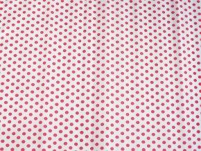 Krepový papír puntíkatý - 9755/53 - bílo-červený