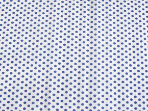Krepový papír puntíkatý - 9755/56 - bílo-modrý