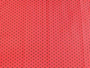 Krepový papír puntíkatý - 9755/51 - červeno-černý