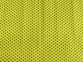 Krepový papír puntíkatý - 9755/60 - žluto-černý