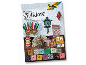 Blok s motivem FOLKLÓR - 270 g/m2 a 80 g/m2, 26 listů, 24 x 34 cm