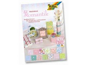 Blok s motivem ROMANTIKA - 270 g/m2 a 80 g/m2, 26 listů, 24 x 34 cm