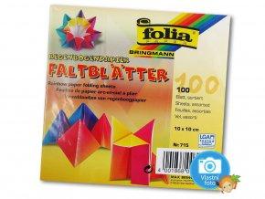 Origami papír duhový 100 g/m2 - 10 x 10 cm