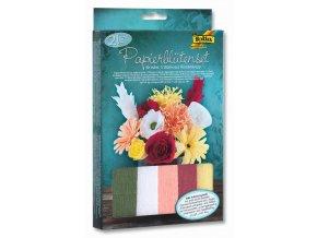 Folia - Krepové květiny - sada na výrobu 11 kusů papírových květin