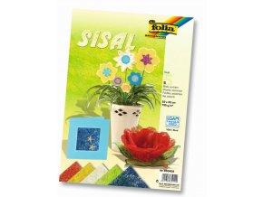 Folia - Sisalový papír v pastelových barvách, 5 listů, 23 x 33 cm
