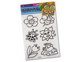 Šablony k barvám na sklo na adhezní fólii - Květiny