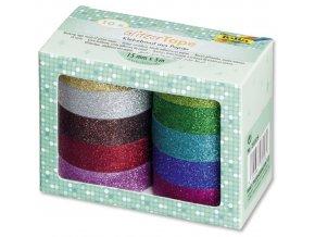 Folia 28509 - Třpytivé washi pásky - 10 barev