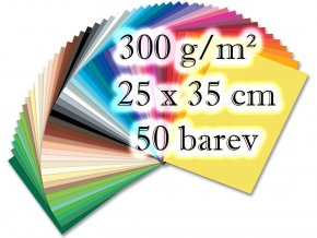 Folia - Barevný fotokarton - 300 g/m2, 50 barev, 25 x 35 cm