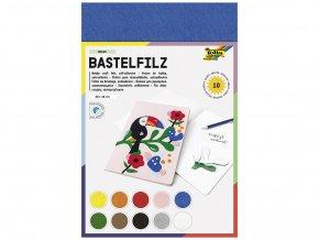 Folia 520499 - Dekorační filc/plst - 10 barev - SAMOLEPÍCÍ