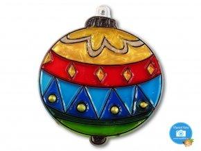 Závěsná šablona pro barvy na sklo - koule