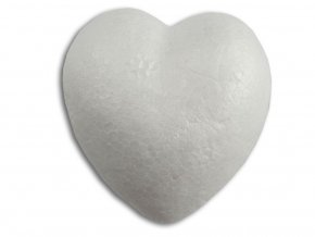 Srdce z polystyrenu - 8 cm