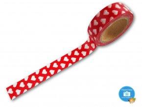 Folia 26047 - Washi Tape - dekorační lepicí páska - Srdíčka