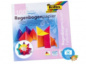 Folia 717 - Duhove origami papiry 20x20 cm, nabizi Mydlifik.cz
