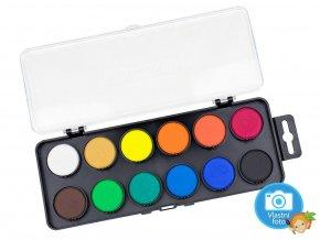 Barvy vodové Koh-i-noor 172511 - 12 barev, 30 mm
