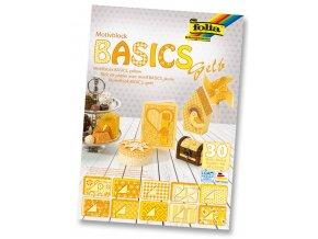 Folia 46149 - Blok s motivem BASICS Žlutá - 30 listů, různá gramáž, 24x34 cm