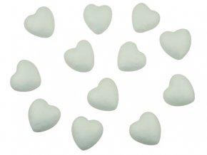 Anděl 6717 - Srdce z polystyrenu - 4 cm, 12 kusů