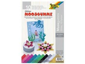 Folia 239109 - Pěnovka moosgummi s třpytkami - 10 barev