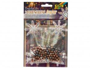 Folia 12560 - Sada na výrobu hvězd z perliček - barva měděná
