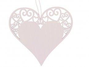 Anděl Přerov 4216 - Dřevěné srdce 12 cm