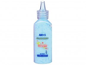 AMOS 1532 - Slupovací barva s konfetami - modrá, 22 ml