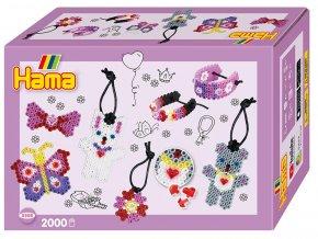 Hama 3508 - zažehlovací korálky MIDI - Malý svět - módní doplňky