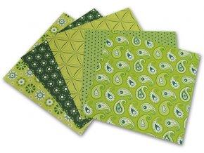 Origami papír Basics - zelený