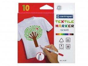 Centropen 2739 - Značkovače na textil 10 ks