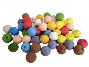 Anděl 1847 - Kuličky z buničiny s dírkou, mix barev