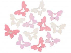 Anděl Přerov 4185 - Motýl dřevěný 4 cm, 12 ks