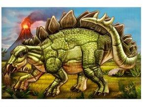 Anděl 6623 - Samolepicí skládačka Stegosaurus 14x25 cm