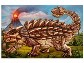 Anděl 6624 - Samolepicí skládačka Ankylosaurus 14x25 cm