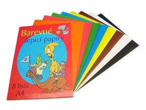 Kohinoor - Složka lepicích barevných papírů 8 listů