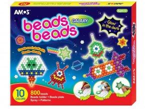 Anděl 6405 - Korálková sada bez žehlení Beads Galaxy